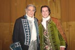 Backstage with Plácido Domingo